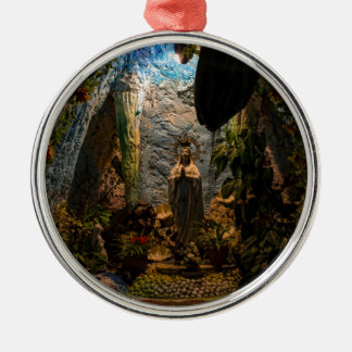 Holy Virgin Mary Grotto Metal Ornament