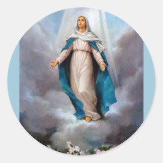 Holy virgin Mary, Jesus &  Gods Mother, saint Mary Classic Round Sticker