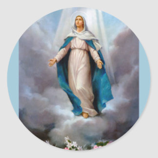 Holy virgin Mary, Jesus &  Gods Mother, saint Mary Classic Round Sticker
