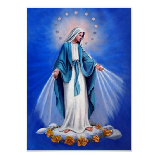 Holy virgin mother Mary,mother of God template Poster   Zazzle