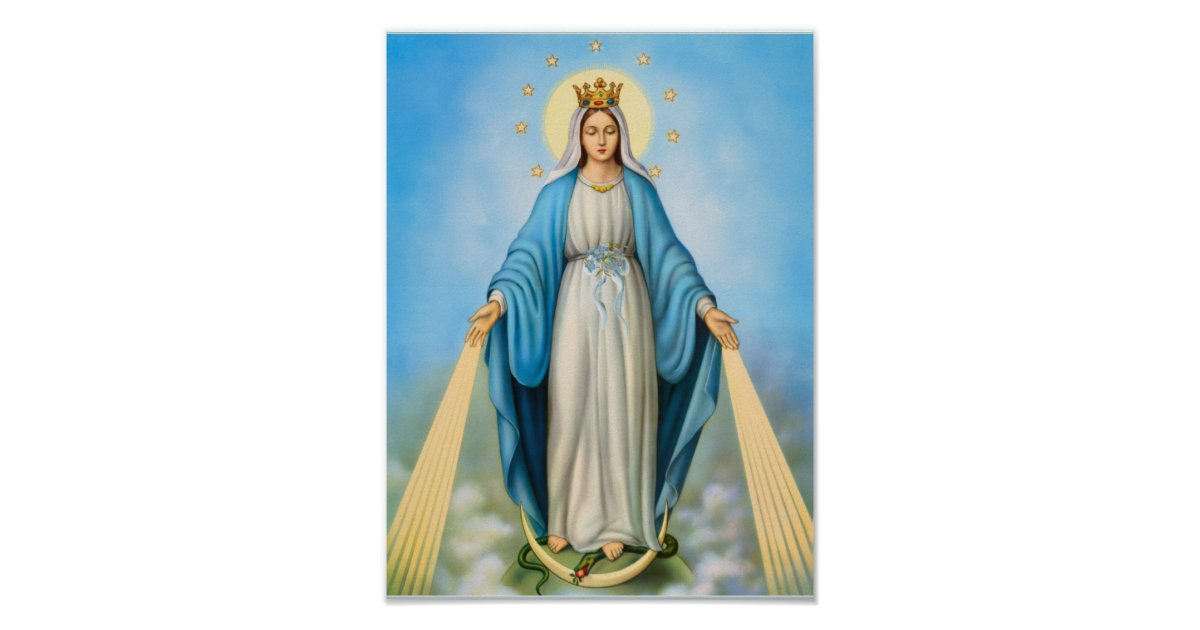 Holy Virgin Mother Mary Mother Of God Template Poster
