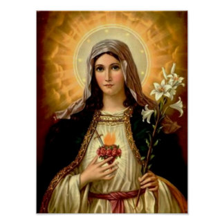 Holy Mary Posters   Zazzle
