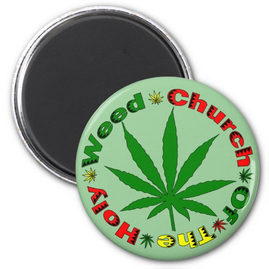 Holy Weed Church Magnet