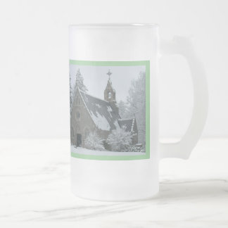 Holy Winter Frosted Glass Beer Mug