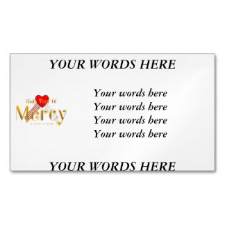 Holy Year of Mercy Magnetic Business Card