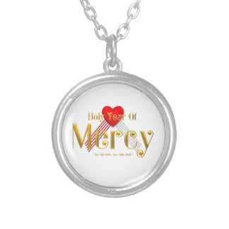 Holy Year of Mercy Round Pendant Necklace
