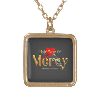 Holy Year of Mercy Square Pendant Necklace