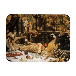 Holyday picnic painting magnet