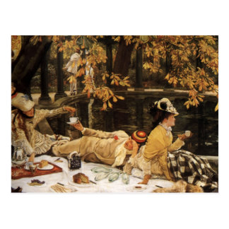 Holyday picnic painting postcard