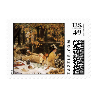 Holyday picnic painting stamps