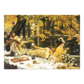 Holyday The Picnic by James Tissot Victorian Art Invitations