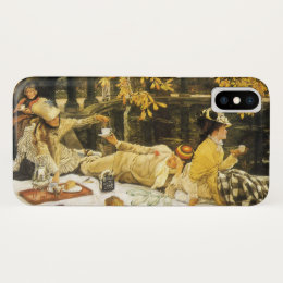 Holyday, the Picnic by James Tissot, Victorian Art iPhone X Case