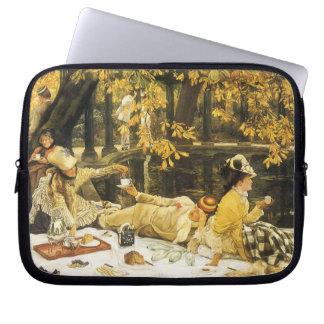 Holyday (The Picnic) by James Tissot Victorian Art Laptop Sleeve