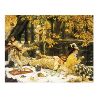Holyday, the Picnic by James Tissot, Victorian Art Postcard