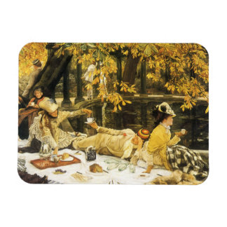 Holyday (The Picnic) by James Tissot Victorian Art Rectangular Photo Magnet