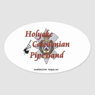 Holyoke Caledonian Pipe Band Oval Sticker