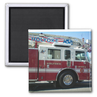 Holyoke, MA Fire Department 2 Inch Square Magnet