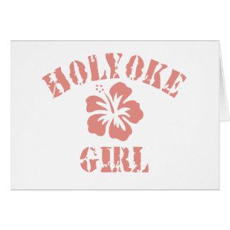 Holyoke Pink Girl Greeting Card