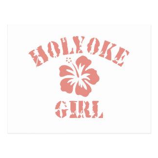 Holyoke Pink Girl Postcard