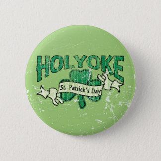 Holyoke St. Patrick's Day Vintage Retro Button