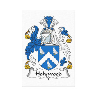 Holywood Family Crest Stretched Canvas Prints