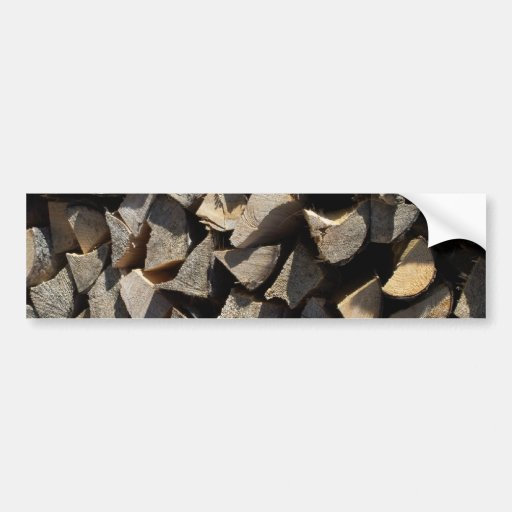Holzscheite logs bumper sticker