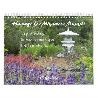 Homage for Miyamoto Musashi Haiku Imagery Calendar