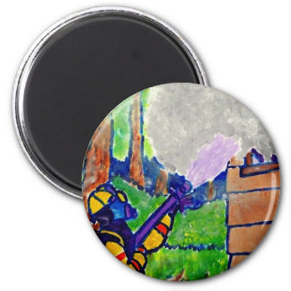Homage to Firefighters by Piliero 2 Inch Round Magnet