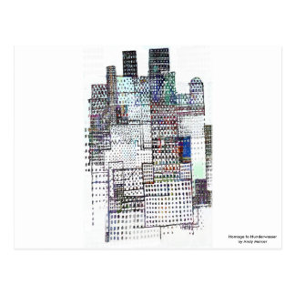 Homage to Hundertwasser Postcard