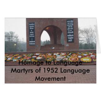 Homage to Language Martyrs of 1952 La... Card
