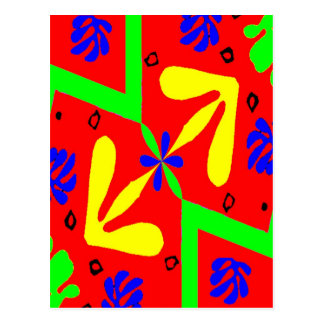 Homage To Matisse Designs Postcard