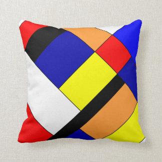 Homage to Mondriaan Throw Pillow