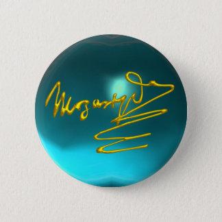 HOMAGE TO MOZART,blue aquamarine Pinback Button