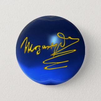 HOMAGE TO MOZART,blue sapphire Button