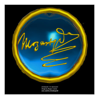 HOMAGE TO MOZART, Blue Sapphire colossal size Poster