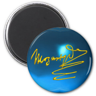HOMAGE TO MOZART,blue sapphire Magnet