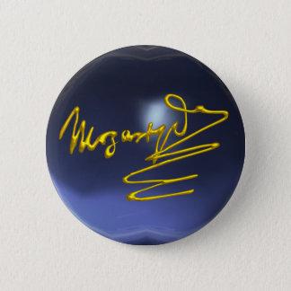 HOMAGE TO MOZART,blue topaz Pinback Button