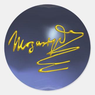 HOMAGE TO MOZART, blue  topaz Sticker