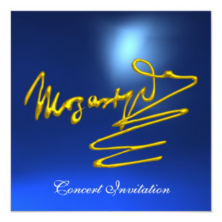 HOMAGE TO MOZART, GOLD  BLUE CONCERT CARD