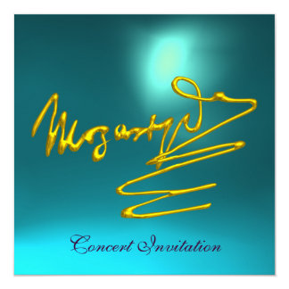 HOMAGE TO MOZART, GOLD  BLUE CONCERT CARD