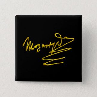 HOMAGE TO MOZART Gold Signature Of Composer Black Pinback Button