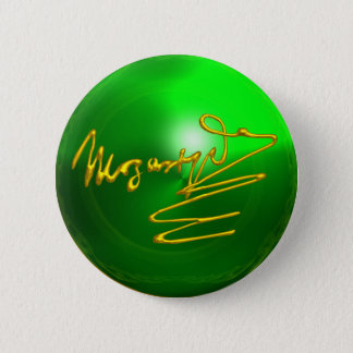 HOMAGE TO MOZART Gold Signature of Composer Green Button