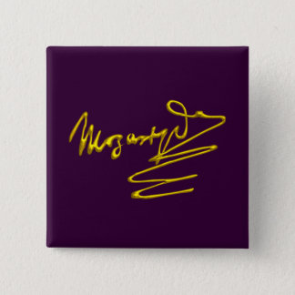 HOMAGE TO MOZART Gold Signature Of Composer Purple Pinback Button
