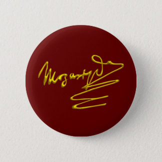 HOMAGE TO MOZART Gold Signature Of Composer Red Pinback Button