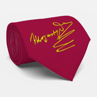 HOMAGE TO MOZART Gold Signature Of Composer Red Tie