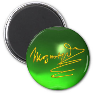HOMAGE TO MOZART,green emerald Magnet
