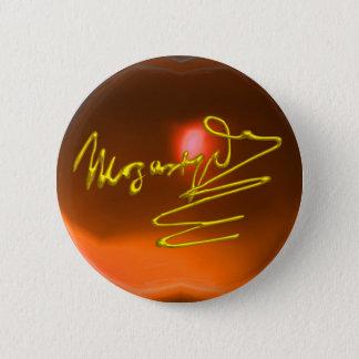 HOMAGE TO MOZART,orange yellow agate Pinback Button