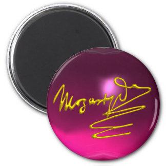 HOMAGE TO MOZART,pink amethyst Magnet