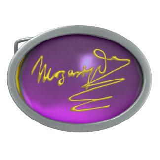HOMAGE TO MOZART ,Purple Amethsyt Gemstone Belt Buckle