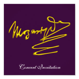 HOMAGE TO MOZART, PURPLE CONCERT CARD